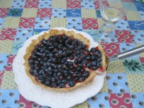 Tarte aux Myrtilles and Wine 2